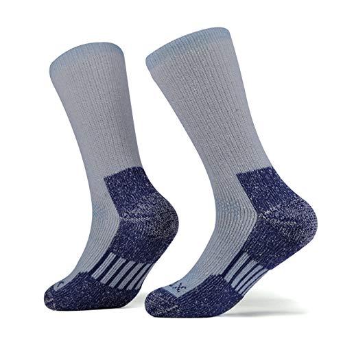 (SOLAX Women's Merino Wool Hiking Socks 2 Pairs Outdoor Trail Crew Socks)