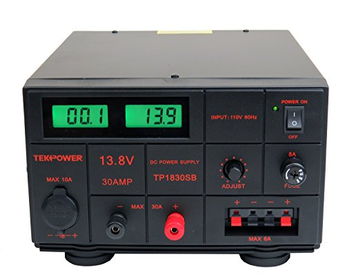 TekPower TP1830SB DC Adjustable DC Power Supply 1.5-15V 30A with Digital Display, Linear Output, Lab Grade High stable and low ripple voltage Reglator