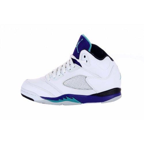 Jordan Nike Air 5 Retro Grapes (PS) Boys Basketball Shoes 440889-108 White 1 M US (Jordan Grapes)