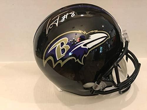 Lamar Jackson Autographed Signed Full Size Amp Helmet Baltimore Ravens JSA
