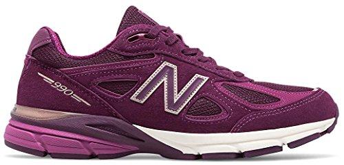 New Balance Women's 990V4 Running Shoe, Dark Mulberry, 7.5 B ()