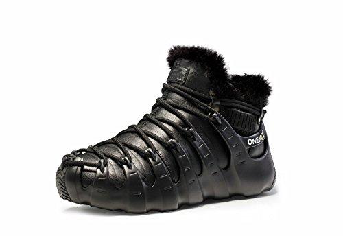 Onemix Herenbont Gevoerde Sneakers, Drie Manieren Om Romeinse Schoenen Te Dragen, Enkel Hoge Winterlaarzen Zwart