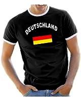 Coole-Fun-T-Shirts Herren T-Shirt Deutschland Ringer