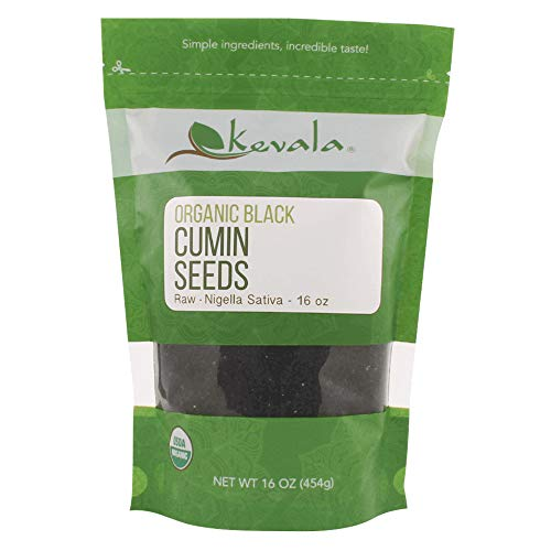 Kevala Organic Raw Black Cumin Seeds (Nigella Sativa) 1 Lb (Best Oil For Cannaoil)
