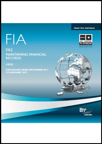 FIA Maintaining Financial Records FA2: - Financial Records Maintaining