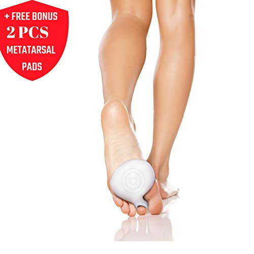 Metatarsal Pads for Heels | Ball of Foot Cushions for Women - Perfect for Shoes That are Too Large, Hiking, Walking