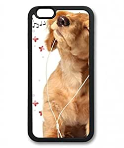 E-luckiycase TPU Supple Shell Music Animals Dogs Black Skin Edges for iphone 5c Case