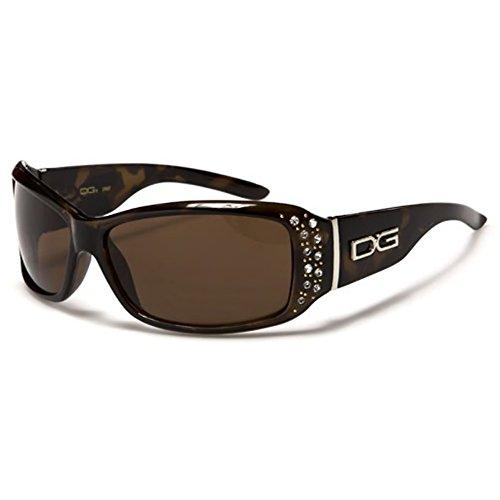 fc4d85353b DG Eyewear ® Fashion Sunglasses (Women) 2016 - Designer Brown Rhinestone  Diamante Fashion Shades Sunglasses - Model: DG Costa Rica (Women -Accessories)