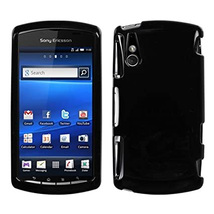 separation shoes d6dd5 6636c Black Protector Case for Sony Ericsson Xperia Play / R800 (Verizon)