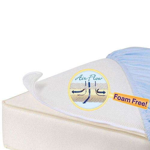DEX Products, INC Dex Baby Miracle Mat Breathable Crib Mattress Pad, White MT-BF