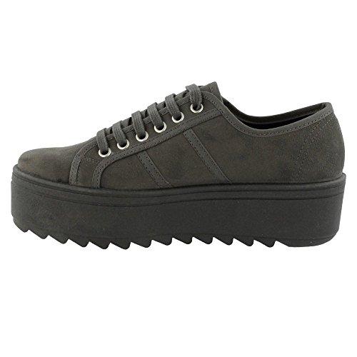 Blucher Antelina Plataforma - Zapatillas para mujer, color Gris, talla 40 Victoria