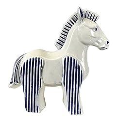 "Sagebrook Home 11626 Horse Figurine, 12.75"" X 4.75"" X 13.25"", Bluewhite"