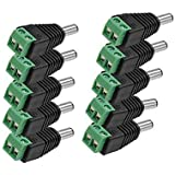 PNP Bazar Dc Connectors Screw Type (Green) For CCTV Camera,( Pack Of 10Pcs. Connectors)