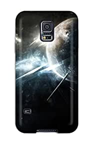 Best 7632083K60889006 Galaxy note4 Hybrid Tpu Case Cover Silicon Bumper Dark Space Abstract