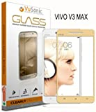 VuSonic™ HD Clear, Anti-Shatter, 3D, Edge To Edge, Full Cover Tempered Glass Screen Protector Guard For Vivo V3 Max (Gold)