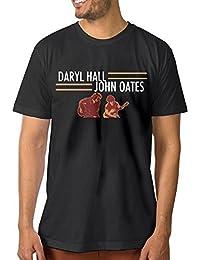 Men Daryl Hall and John Oates Tour Funny Outdoor Black Shirt Short Sleeve
