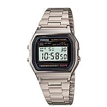Casio Men's A158W-1 Classic Digital Stainless Steel Bracelet Watch