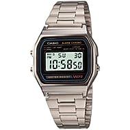 Men's A158WA-1 Water Resistant Digital Watch