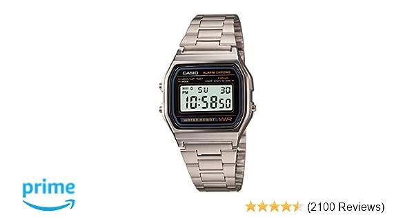 6479793afccf Amazon.com  Casio Men s A158WA-1DF Stainless Steel Digital Watch  Casio   Watches