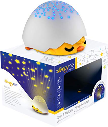 SleepyMe Smart Sleep Soother   Baby Star Projector   White Noise Sound Machine   Baby Gifts   Portable Sleep Aid Night Light with 10 Songs for Crib   Shusher Sound - Soother Crib
