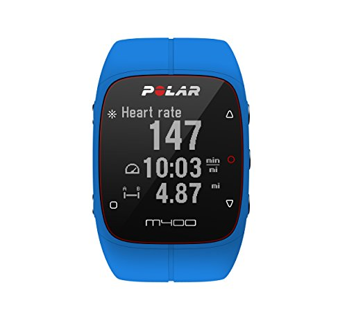Polar M400 GPS Smart Sports Watch and Fitness Tracker (Blue)