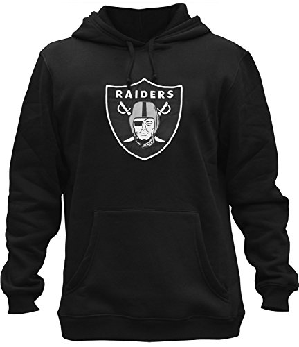 Mens Athletic Raiders Embroidery Cotton Sweatshirt Pullover Hoodie