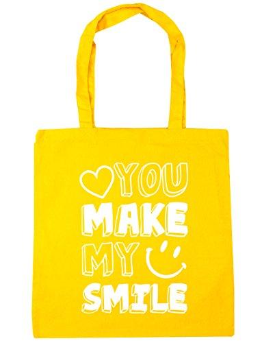 HippoWarehouse YOU MAKE mi sonrisa Tote Compras Bolsa de playa 42cm x38cm, 10litros amarillo