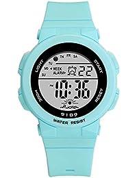 fde45842c Sports Watch for Women, Women's and Girls' Watch Waterproof Digital Watch  with 7 Colors