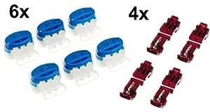 6 Cable Conector + 4 Terminales de conexión para Husqvarna Automower (Original de 3M)