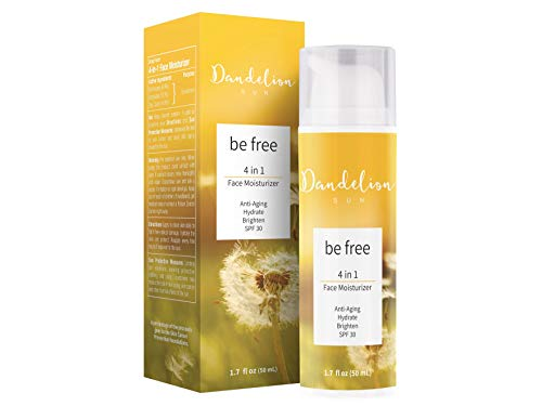 41JQaw5ytjL - Dandelion Sun, Anti-Aging Face Moisturizer with Broad Spectrum SPF 30, Facial Sunscreen, Antioxidant-Rich Complex with Vitamin C and E, Botanical Extract, Squalane, 1.7 fl oz