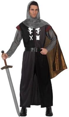 Atosa-70008 Disfraz Caballero Cruzadas, color negro, M-L (70008 ...