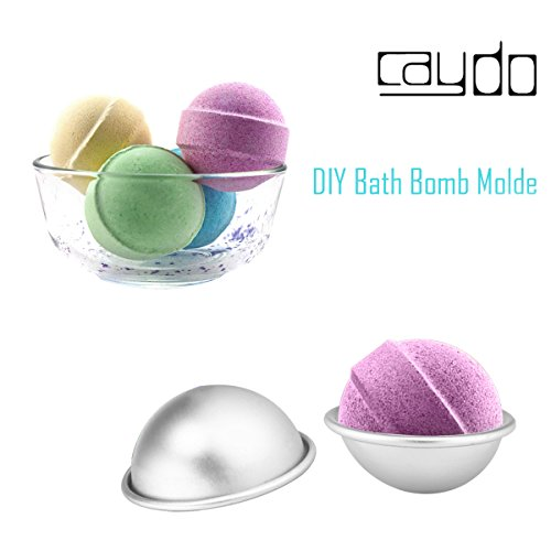 Caydo 5 Set 5 Sizes DIY Metal Bath Bomb Mold 10 Pieces for ...