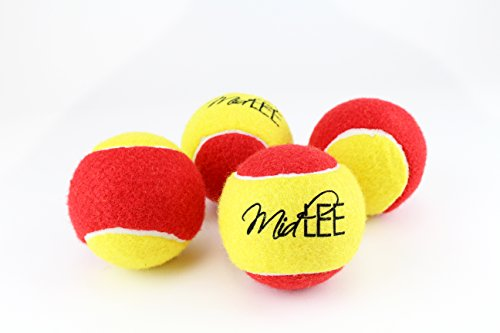 Midlee 3 Inch Large Tennis Balls for Dogs, Pack of 4 Durable