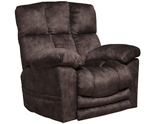 - Catnapper Lofton 4867 Dual Motor Power Lift Infinite Position Recliner Chair with Extended Ottoman and Printed Suede Fabric 300 Weight Capacity - Dusk