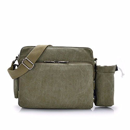 LMDSG Neue Männer Messenger Bag Schultertasche Multifunktions-Canvas Herren Tasche Business-Tasche koreanische Freizeit Retro-Tasche army green