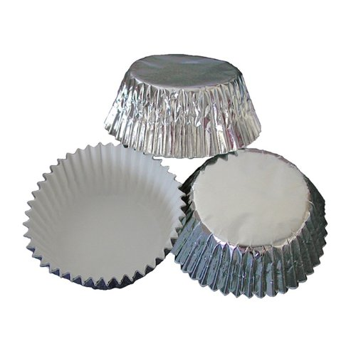 Hoffmaster Brooklace Silver Foil Fluted Bake Cup, 4.5 inch - 2000 per case.