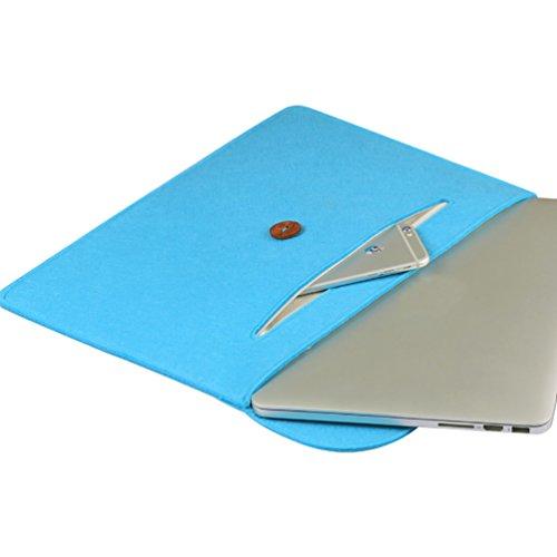 YiJee Funda Blanda para Ordenador con Bolsa Sleeve para Portatiles 13.3 Pulgada Lago Azul