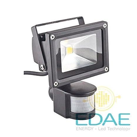 Foco LED detector de proximidad 10W, luz blanca fría 5500K, proyector LED con detector de proximidad, fabricante Español: Amazon.es: Iluminación