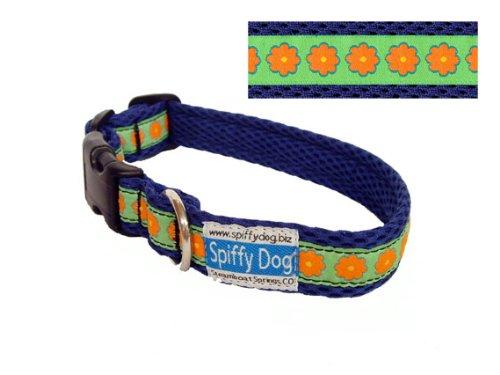 Purple Daisies Air Dog Collar Size Large