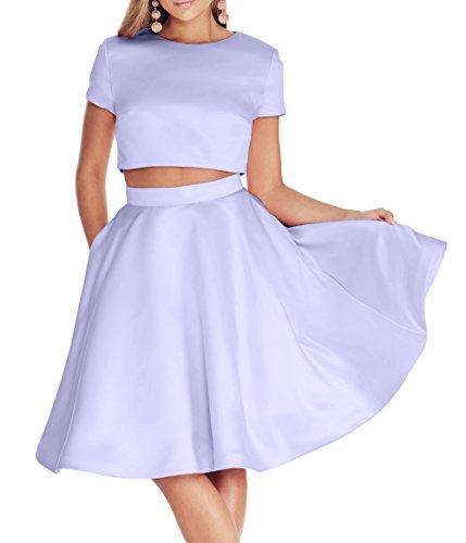 Rock Tanzenkleider teilig Linie Satin A Lilac Brau mia La Abendkleider Partykleider Brautjungfernkleider Mini Cocktailkleider Zwei tqOpx7zw