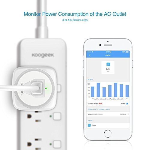 Koogeek Smart Plug, WiFi Outlet, on 2.4Ghz Network, for iOS and Android Devices Remote Control, Night Light, Works with Alexa and Apple HomeKit by Koogeek (Image #7)
