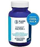 Klaire Labs Ther-Biotic Factor 1 Probiotic - 20 Billion CFU Lactobacillus rhamnosus with Inulin, The Original Hypoallergenic Probiotic for Men & Women, Dairy-Free Gut Support (60 Capsules)