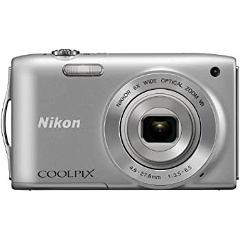 Nikon COOLPIX S3300 16 MP Digital Camera with 6x Zoom NIKKOR Glass Lens and 2.7-inch LCD (Silver) (Discontinued by Manufacturer)