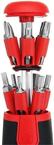ドライバーセット 26で1多目的ポータブルドライバーセットキットを隠しマガジンデザイン 家庭用DIY修理 (色 : Black+Red, Size : One size)