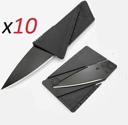 Amazoncom 10 X Credit Card Knives Lot Folding Wallet Thin