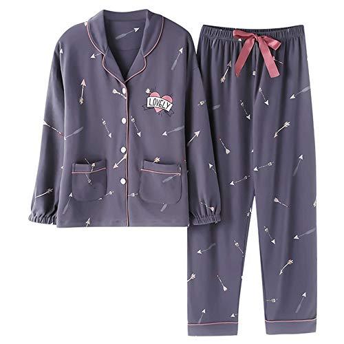 Color Vestiti Homewear A Pigiami Maniche Photo Meaeo Pigiama Da Cardigan Pigiama Lunghe Completi In Notte Cotone Medicazione qw1yF4aH