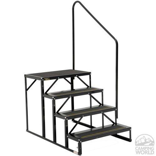 Stromberg Carlson EHS-103-R Park Model Econo Porch-3-Step, Black by Stromberg Carlson