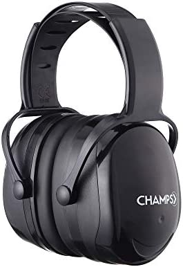Champs Noise Reduction Safety Ear Muffs, Shooting Hearing Protection Ear Muffs, Adjustable Headband, NRR 29dB for Shooting Hunting [Included Carrying Bag]