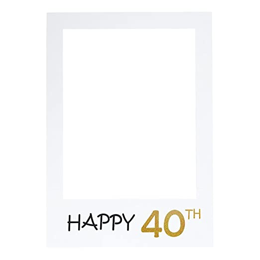 LUOEM Marco para fotos de 40 cumpleaños, diseño de selfie ...
