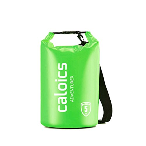 Caloics Waterproof Dry Bag - Roll Top Dry Compression Sack Noctilucent Keeps Gear Dry for Kayaking, Beach, Rafting, Boating, Hiking, Camping and Fishing & 100%
